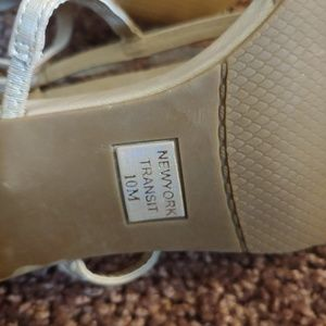 New York Transit Shoes - New York transit  beige colored strappy mini heel